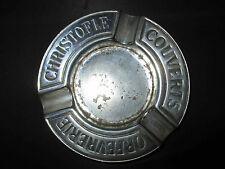 ancien cendrier publicitaire orfèvrerie Christofle métal argenté fin XIX ème