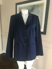 NWT Talbots Woman's  cotton Jacket Navy Blazer  ~ Sz  12 ~ NICE  ~