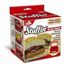 Sutffin' Stuffed Burger Maker Hamburger Patty Press As Seen on TV