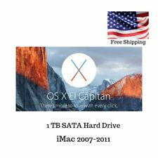 Hard Drive for iMac Mid 2007-2011 ONLY.  1TB, Preloaded with El Capitan 10.11