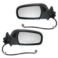 Set of Side View Power Mirrors with Smooth Covers for Nissan Maxima Infiniti I30