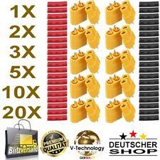 XT60 XT30 PAAR Stecker Goldstecker PREMIUM + Schrumpfschlauch   RC Lipo Akku