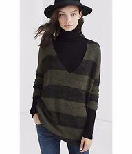 Express Marl Stripe London Sweater Tunic size XSmall Green