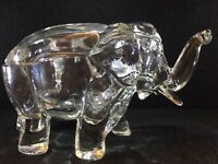 Ca. 1930 Co-Operative Flint Crystal Elephant Covered Dish - MINT - Fast Shipping