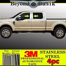 2017-2018 Ford F250 F350 Crew Cab 4pc STAILNESS STEEL Pillar Posts Cover Overlay