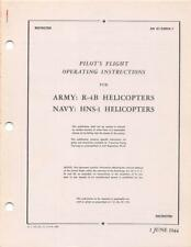 1944 AAF SIKORSKY R-4B HOVERFLY HELICOPTER PILOTS FLIGHT MANUAL HANDBOOK-CD