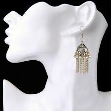 Pendientes Indi boho aleación plata pendientes largos gypsy joyería étnica