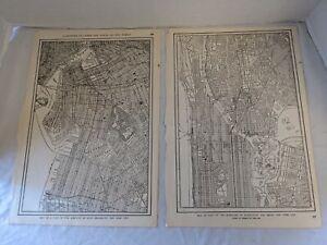 "1915 Street Map of New York City Each Page 10x15"" Brooklyn Manhattan Bronx"