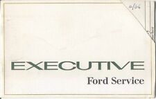Ford Executive (Mk 4) Voucher Book December 1966 Unused