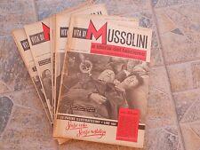 121F - N. 21 FASCICOLI VITA DI MUSSOLINI E STORIA DEL FASCISMO ED. SET 1950