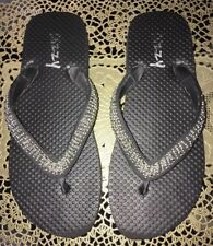 ac32c727654df8 Dizzy Beaded Black Flip Flops 6 6.5