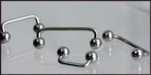 Genuine Titanium Staples - SURFACE BARS -     For all Surface piercings