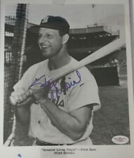 STAN MUSIAL ST LOUIS CARDINALS SIGNED AUTOGRAPHED 8X10 SPENCE AUTHENTIC