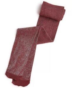 Inc Lurex Shine Tights Women's Size S/M Dark Red Metallic Shimmer Pantyhose