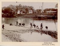 Egypte, Mehallah, Porteur d'eau  Vintage print.  Tirage citrate  8x11