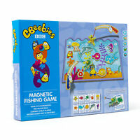 CBeebies Magnetic Fishing Game Wooden Board Flash Cards Learn Play 10 Creatures