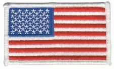 Heros Pride 0005Hp U.S. Flag, Embroidered Patch, White