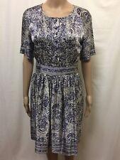 THURLEY DRESS WOMENS ~ SIZE 8 - 10 ~ EXC COND STUNNING PRINT DESIGN SHORT SLEEVE