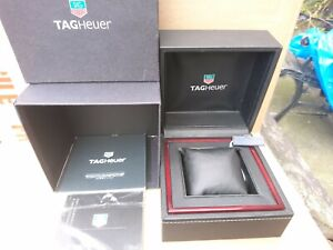 TAG HEURE PRESENTATION BOX WITH INSTRUCTIONS & GUARANTEE CARDS IN EXCELLENT CONd