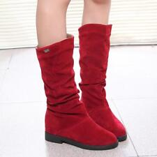 Fashion Autumn Winter Boots Women Sweet Boot Stylish Flat Flock Snow Boots JA
