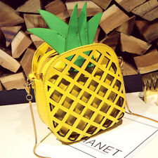 Women Pineapple Shape Shoulder Bag Messenger Crossbody Handbag Tote Purse Bag