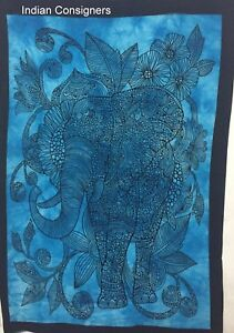 Elephant Flower Design Small Tapestry Poster Hippie Wall Hanging Textile Throw