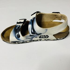 Birkenstock Kids Star Wars Stormtrooper Size 1 Euro 32 205L1 Black White Sandals
