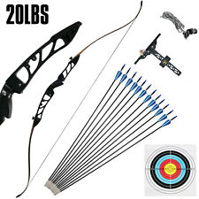 New listing Takedown Recurve BowSet 20LBS Archery BowArrow Adults Youth Shooting Practice