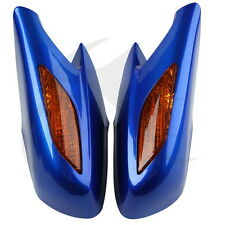 Plastic Blue Rear View Mirror Orange Turn Signals Lens For Honda ST1300 2002-11