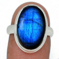 Blue Fire Labradorite 925 Sterling Silver Ring Jewelry s.6.5 BFLR1327