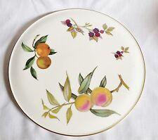 Royal Worcester Evesham Gold Cake Plate - 11 Inch