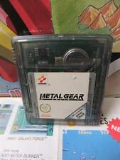 Game Boy GB:Metal Gear Solid [TOP KONAMI & 1ERE EDITION RARE] SEUL - Fr