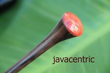 Handmade wooden HAIR JEWELRY PIN STICK PICK red CORAL Sono wood natural new