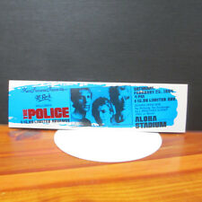 Police (Rock Band; Sting) Unused Concert Ticket; Synchronicity Tour; Hawaii 1984