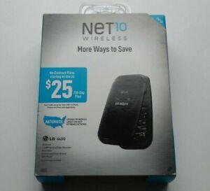 LG 441G Black Net 10 Prepaid Net10 Wireless Mobile Cellular Flip Phone Brand New