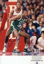 Reggie Lewis Boston Celtics Signed Autographed 8x10 Photo Beckett BAS