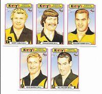 Acheron Mints Korny's Karnival Footballers WESTERN AUSTRALIAN Set (5 Cards)
