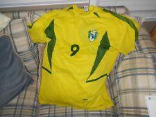 Brasil gold soccer jersey #9 sz