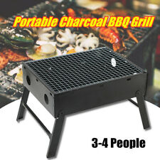 BBQ Grill Portable Camping Barbecue Charcoal Outdoor Picnic Cooking Msh