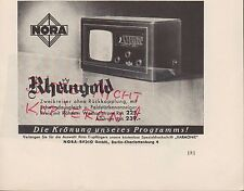 Berlín-Charlottenburg, publicidad 1936, Nora-radio GmbH Rin oro
