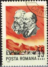 Romania Famous Communist Leaders Vladimir Lenin and Karl Marx stamp 1965