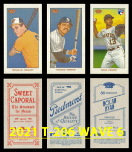 2021 TOPPS 206/T-206 Wave 6 Base+Piedmont+Sweet Caporal Buy More & Save YOU PICK