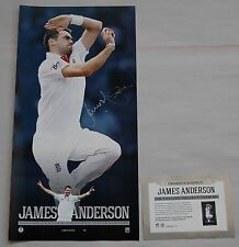 JAMES ANDERSON HAND SIGNED ENGLAND CRICKET VERTIRAMIC OFFICIAL LIMITED EDITION