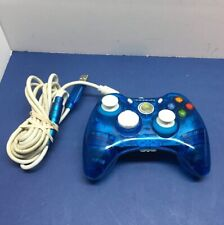 XBOX 360 Controller wired BLUE ROCK CANDY Model PL-3760 . EUC!! Not Tested