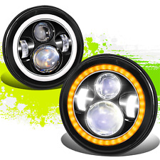 Nuvision Lighting LED Switchback Halo Projector Headlights for Wrangler 07-18