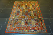 Alter Handgeknüpfter Perser Orientteppich Felder Moud Tappeto Carpet 195x145cm