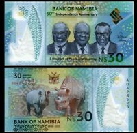 NAMIBIA 30 DOLLARS COMM 2020 YEAR P NEW UNC