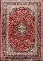 Vintage RED/NAVY Traditional Handmade Floral WOOL Area Rug Oriental Carpet 8x11