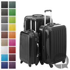 Alex Hauptstadtkoffer Set of 3 Hardside Luggages Trolley Suitcase Black TSA Zahlenschloss