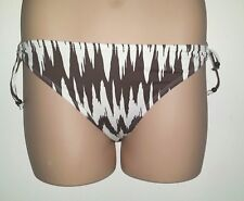 NEXT IVORY WITH BROWN ABSTRACT ZIGZAG PRINT BOTTOM (ONLY) WITH SIDE TIES 14